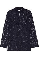 Rebecca Vallance Corded Lace Top Navy