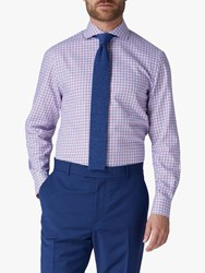Jaeger Motion Multi Check Regular Fit Shirt Red Blue