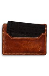 Men's Frye 'Logan' Leather Card Holder Brown Cognac