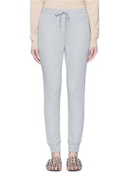 Alexander Wang Elastic Cuff French Terry Sweatpants Grey