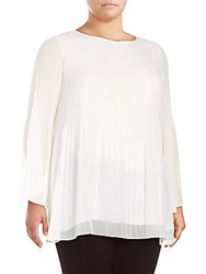 Max Studio Solid Long Sleeve Top Ivory