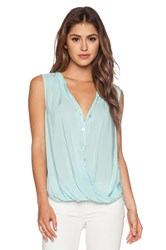 Velvet By Graham And Spencer Rayon Challis Rani Tank Blue