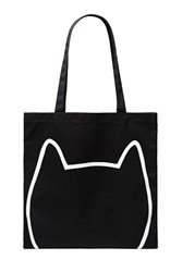 Forever 21 Cat Face Graphic Eco Tote