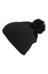 Junior Women's Capelli Of New York Metallic Knit Beanie Black