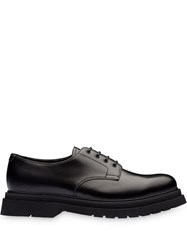 Prada Lace Up Derby Shoes Black