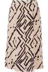 By Malene Birger Venisia Printed Silk Crepe De Chine Midi Skirt