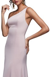 Watters Jelina One Shoulder Gown Blush