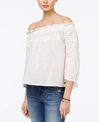 Roxy Juniors' Off The Shoulder Top Pristine