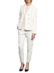 French Connection Sundae Suiting Long Sleeve Blazer White