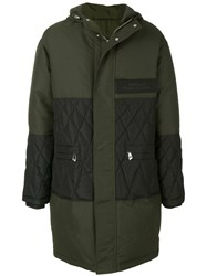 Versace Collection Padded Parka Cotton Feather Down Polyamide Polyester Green