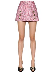 Dolce And Gabbana Jacquard Lame Fil Coupe Mini Skirt