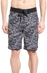 The North Face Men's 'Whitecap' Scalloped Hem Flashdry Tm Board Shorts Tnf Black Logo Glitch Print