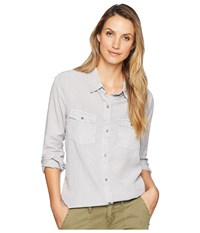 Dylan By True Grit Luxe Laundered Tencel Classic Two Pocket Shirt Light Grey Clothing Gray