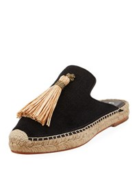 Bettye Muller Rabat Canvas Espadrille Mule Black