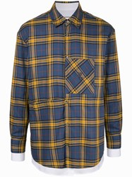 Wooyoungmi Layered Checked Shirt Blue