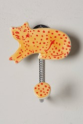 Anthropologie Cat Study Hook Orange Blue