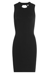 T By Alexander Wang Jersey Dress With Cut Out Detail Black