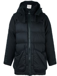 Moncler X Off White Hooded Long Padded Jacket Black