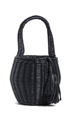 Cleobella Daria Wicker Bag Black