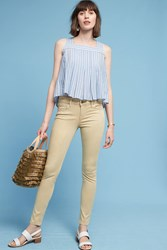 Anthropologie Level 99 Liza Mid Rise Skinny Jeans Gold