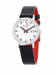 Mondaine Stainless Steel Strap Watch Black