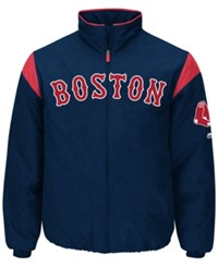 Majestic Men's Boston Red Sox On Field Thermal Jacket Navy Red