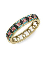 Heidi Daus Double Time Crystal Bangle Gold Multi