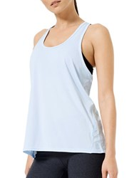 Mpg Relaxed Fit Racerback Solid Tank Top Chambray