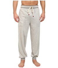 Original Penguin Cuffed French Terry Pant Light Grey Heather Men's Pajama Gray