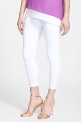 Lysse Studded Control Top Ankle Legging White