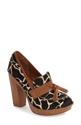 Linea Paolo Women's 'Gorgi' Loafer Pump Giraffe Print Leather