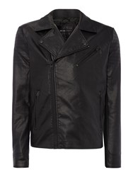 Only And Sons Pu Biker Jacket Black
