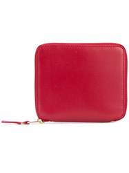 Comme Des Garcons Wallet Classic Zip Around Wallet Unisex Leather One Size Red