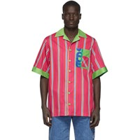 Gcds Pink Double Stripe Shirt
