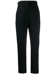Fendi High Waisted Trousers Black