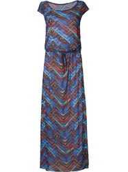 Lygia And Nanny Zig Zag Dress Blue