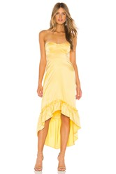 Majorelle Tangier Midi Dress Yellow