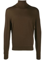 Tom Ford Roll Neck Fine Knit Jumper Brown
