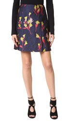 Jason Wu Floral Fields Jacquard Skirt Dark Topaz
