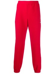 Msgm Elasticated Track Pants Red