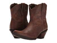 Durango Crush Embossed Bootie Vintage Brown Cowboy Boots