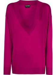 Tom Ford Deep V Neck Jumper Pink