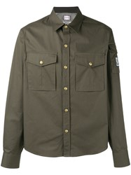 Moncler Gamme Bleu Cargo Pocket Shirt Green
