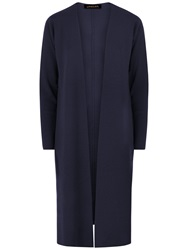 Jaeger Wool Longline Wrap Cardigan Midnight