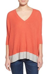 Women's Splendid 'Cruz' Colorblock V Neck Sweater