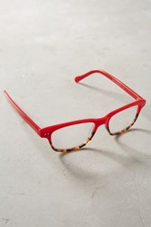 Anthropologie Harley Reading Glasses Red Motif