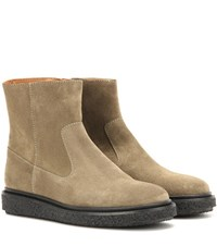 Isabel Marant Etoile Connor Suede Ankle Boots Grey