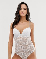 Ann Summers Sexy Lace Bodysuit In White