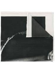 Lost And Found Ria Dunn Face Print Scarf Black