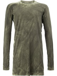 11 By Boris Bidjan Saberi Longsleeve T Shirt Green
